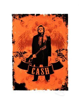 Barry D Bulsara - Johnny Cash - limited edition screenprint