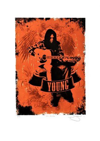 Barry D Bulsara - Neil Young - limited edition screenprint