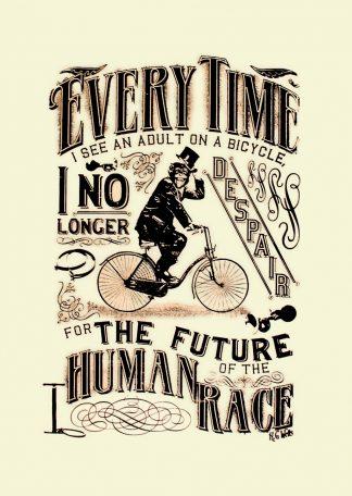 Barry D Bulsara H.G. Wells Bicycle hand-pulled screenprint art