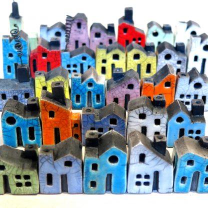Andy Urwin raku glaze ceramic house sculpture