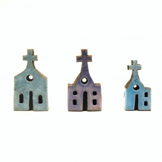 Andy Urwin - raku glaze ceramic church sculpture