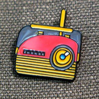 Enamel Pin: Vintage 60s Radio