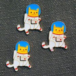 Enamel Pin: AstroCat (Naps not NASA)