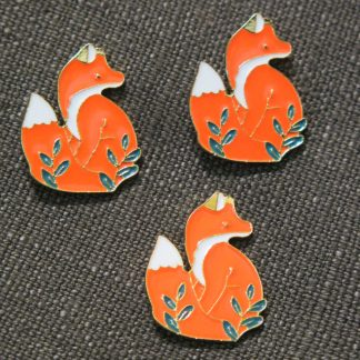 Enamel Pin: Orange Fox