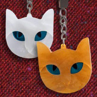 LDA008 Laura Danby Cat Keyrings