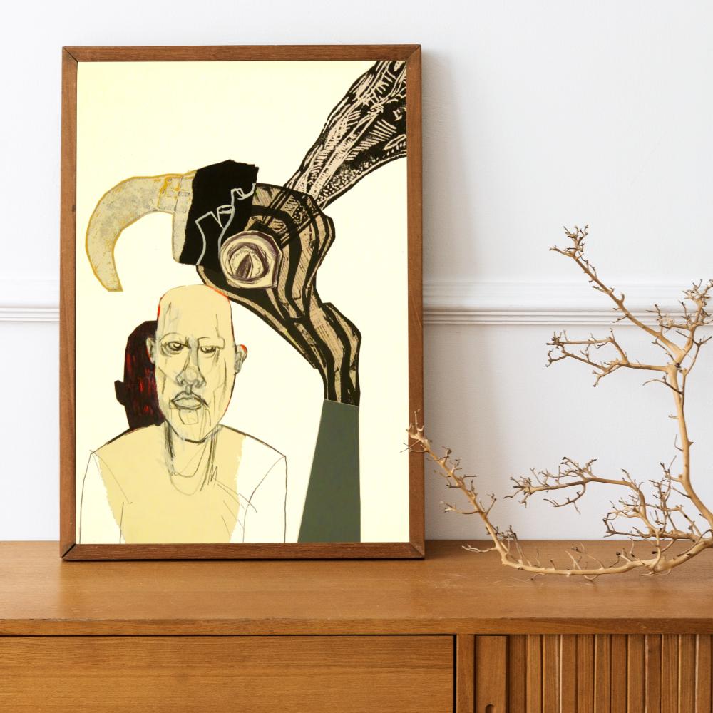 John Lymer - Brooding - Original Art