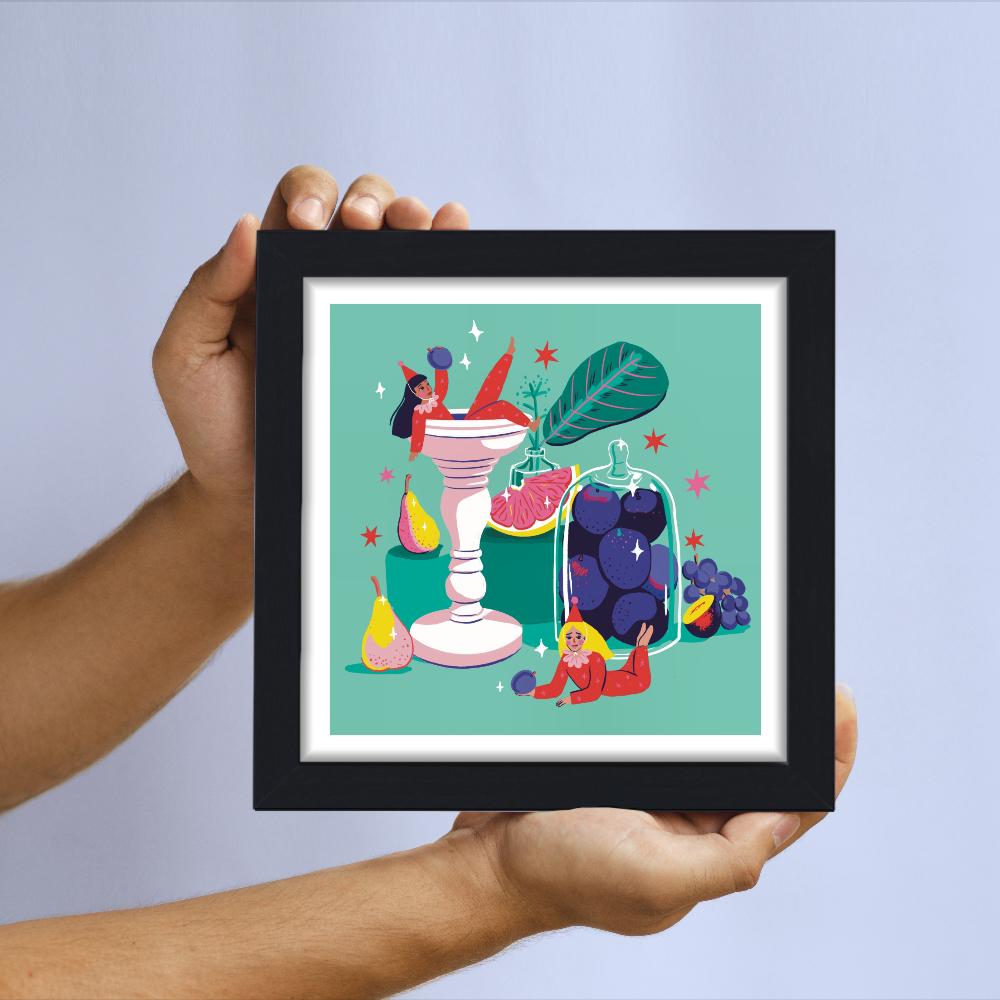 Gem D'Souza - Fruity Clowns- Limited-edition giclee art print