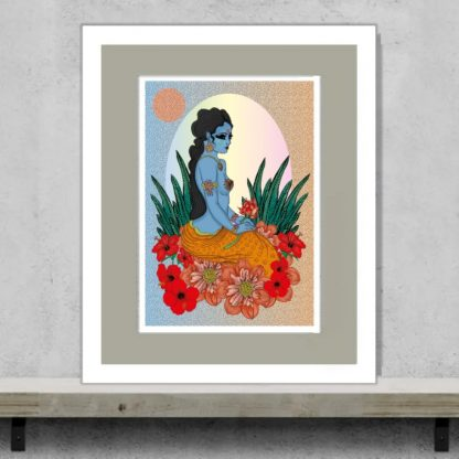 Msdre - Durga by the river - Limited-edition EXCLUSIVE giclee art print