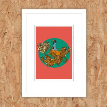 Msdre - Flying Tiger Durga - Limited-edition EXCLUSIVE giclee art print