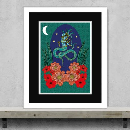 Msdre - Naga in Moonlight - Limited-edition EXCLUSIVE giclee art print