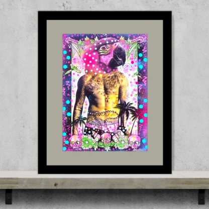 Msdre - Parrot Pirate - Original artwork