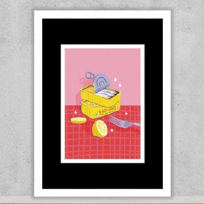 Gem D'Souza - Sadines. Limited edition art print