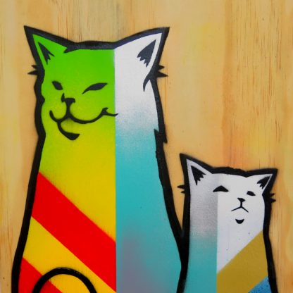 Cassette Lord - Dazzle Pop Pussies XL - Original Brighton Street Art