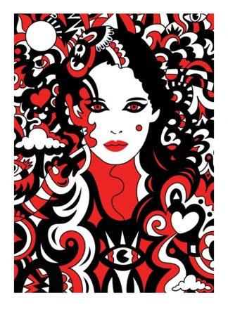 Manic Minotaur - Phaedra - Limited edition art print