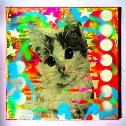 Barrie J Davies - Kitschy Cat (canvas)