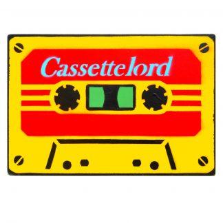 Cassette Lord - Red on Yellow (M) Street art original artwork