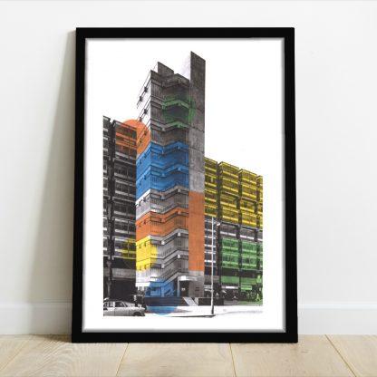 Visage de Collage - Colour Bloc