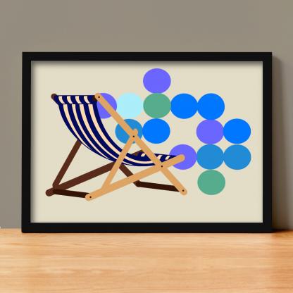Victoria Kaplan - Deckchair **EXCLUSIVE** Limited-edition art print