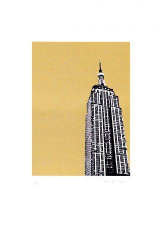 Pammi B - Empire State - gold screenprint
