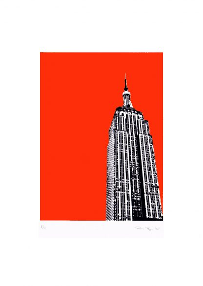 Pammi B - Empire State - orange screenprint