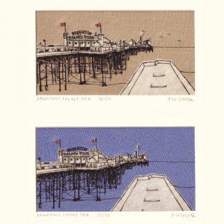 Flo Snook - Brighton's Palace Pier (Fabric Collage)
