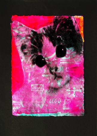 Barrie J Davies - Kitschy Cat (A4 #1)