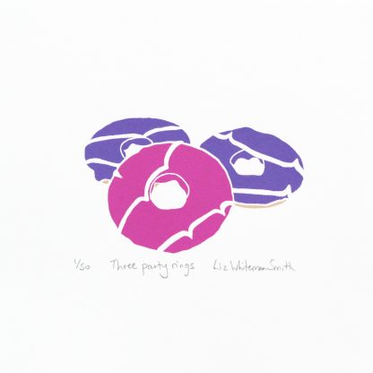 Liz Whiteman Smith - Three Party Rings - limited-edition Screenprint