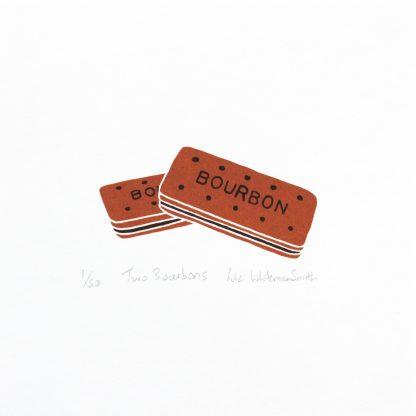 Liz Whiteman Smith - Two Bourbons - Screenprint