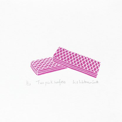 Liz Whiteman Smith - Two Pink Wafers - limited-edition Screenprint