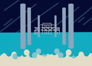 Victoria Kaplan - West Pier in the storm **EXCLUSIVE** Limited-edition art print