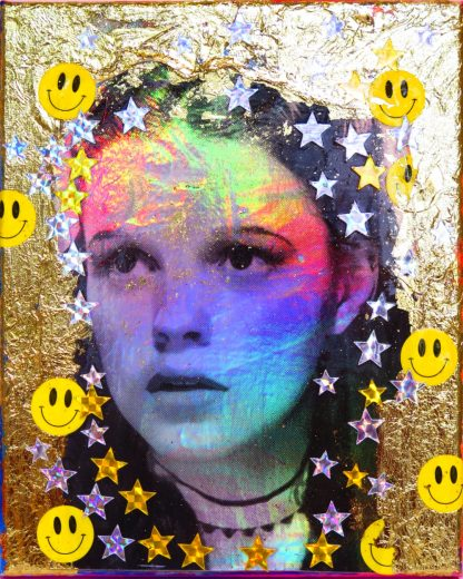 Barrie J Davies - Golden Rainbow (Mini-Canvas)
