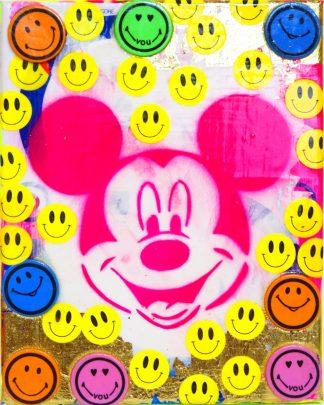 Barrie J Davies - Happy Mickey(Mini-Canvas)