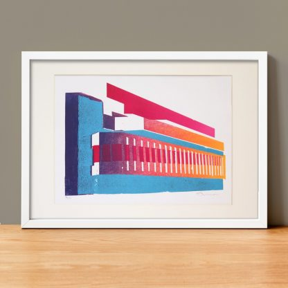 Daniel Mortimer Skinner - Brighton Centre - Limited-edition linocut print