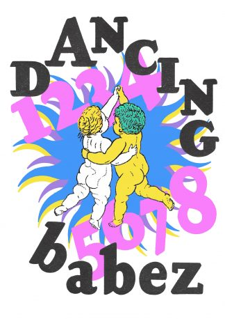 Louis TF - Dancing Babez - limited-edition giclee art print