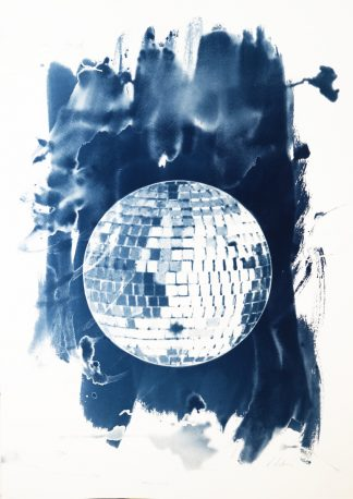 Kirsteen Adams - Disco Ball- Cyanotype print