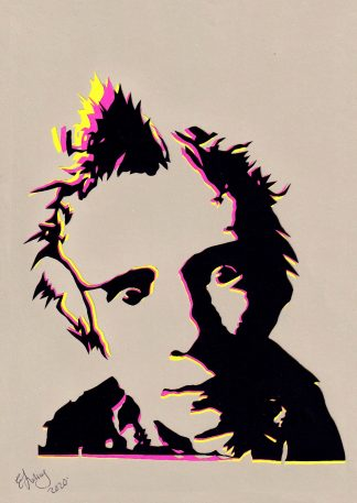 Johnny Rotten - Handcut Paper original art by Emma Holmes