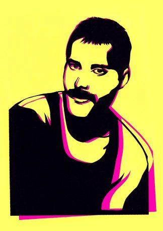 Freddie Mercury Handcut Paper original art Emma Holmes