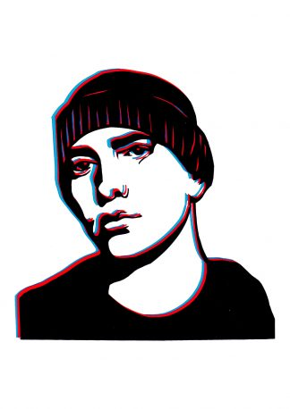 Eminem - Handcut Paper original art by Emma Holmes