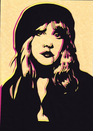 Stevie Nicks - Handcut Paper original art by Emma Holmes