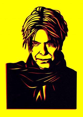 David Bowie - Handcut Paper original art by Emma Holmes