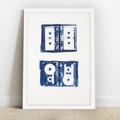 Kirsteen Adams - Mix Tapes (L) Cyanotype Print