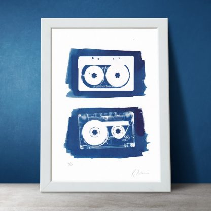 Kirsteen Adams - Mix Tapes (S) Cyanotype Print