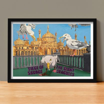 Beav-Art: Siege of the Giant Seagulls - limited-edition giclee print