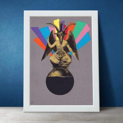 Visage de Collage - Magic Child (Original collage)