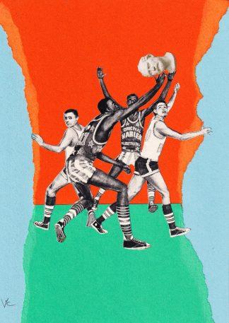 Visage de Collage - Classic Baller (original collage)