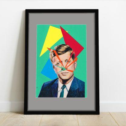Visage de Collage - Triangle - original collage