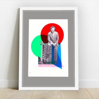 Visage de Collage - Dickie Davies Eyes