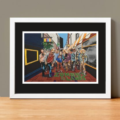 Beav-Art: Zombies of the Lanes - limited-edition giclee print