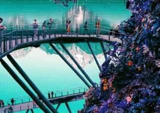 Will Vickers - Blue Sky Walkway - Limited-edition giclee print